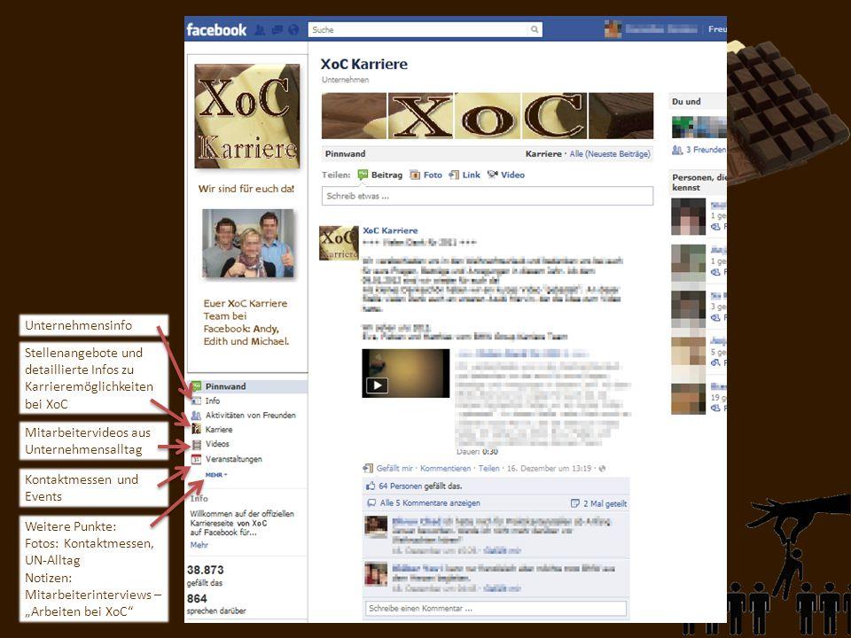 Unternehmensinfo Stellenangebote und detaillierte Infos zu Karrieremöglichkeiten bei XoC. Mitarbeitervideos aus Unternehmensalltag.