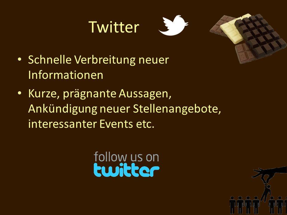 Twitter Schnelle Verbreitung neuer Informationen