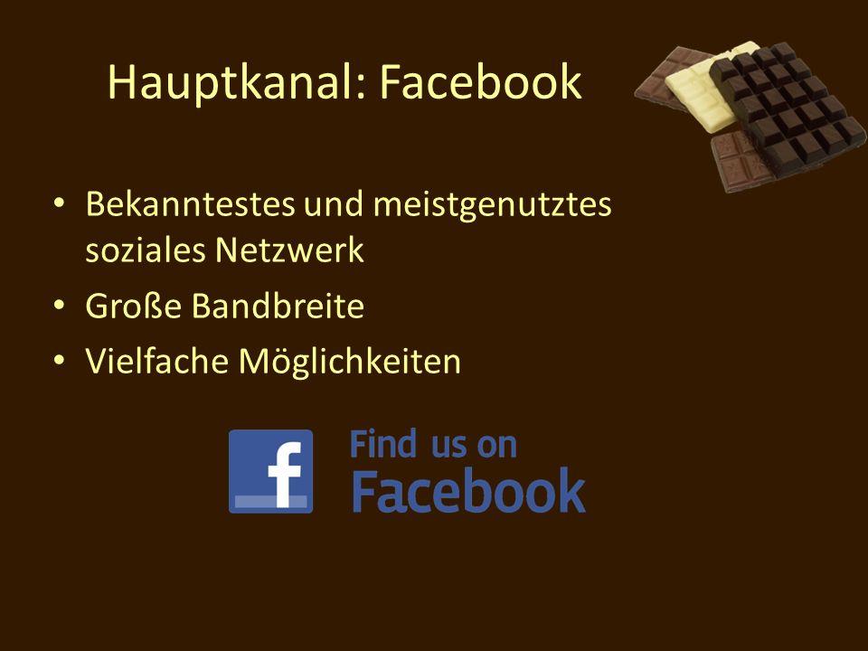 Hauptkanal: Facebook Bekanntestes und meistgenutztes soziales Netzwerk