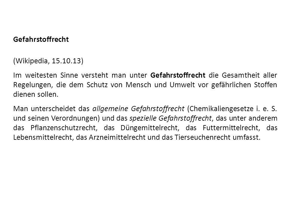 Gefahrstoffrecht(Wikipedia, 15.10.13)