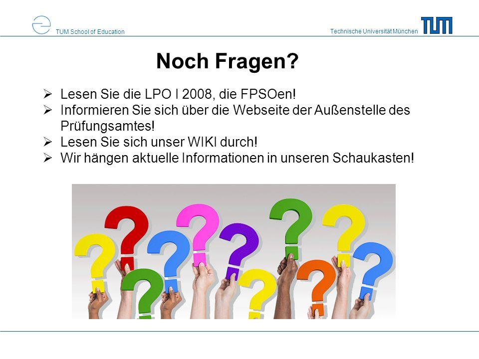 Noch Fragen Lesen Sie die LPO I 2008, die FPSOen!