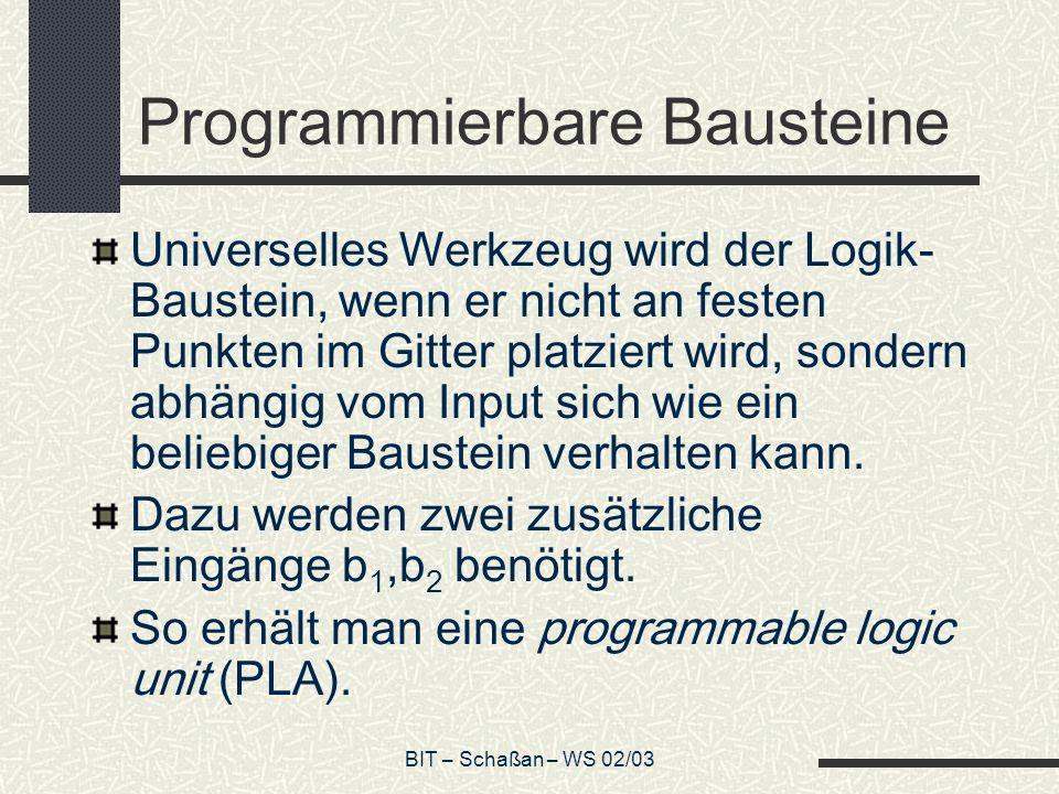 Programmierbare Bausteine