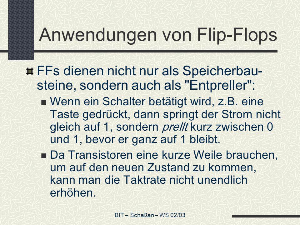 Anwendungen von Flip-Flops