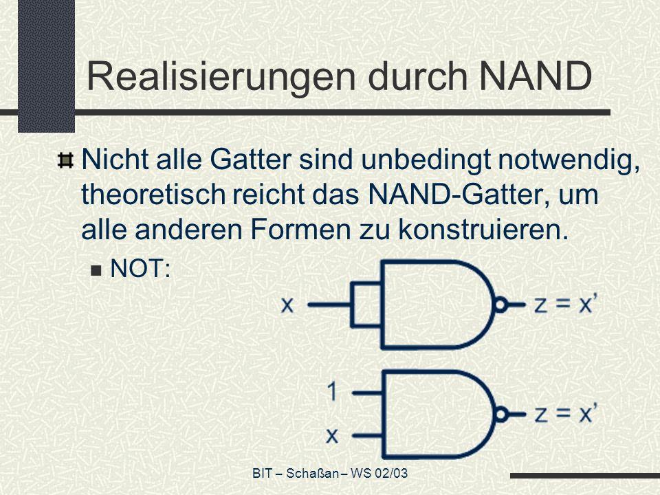 Realisierungen durch NAND