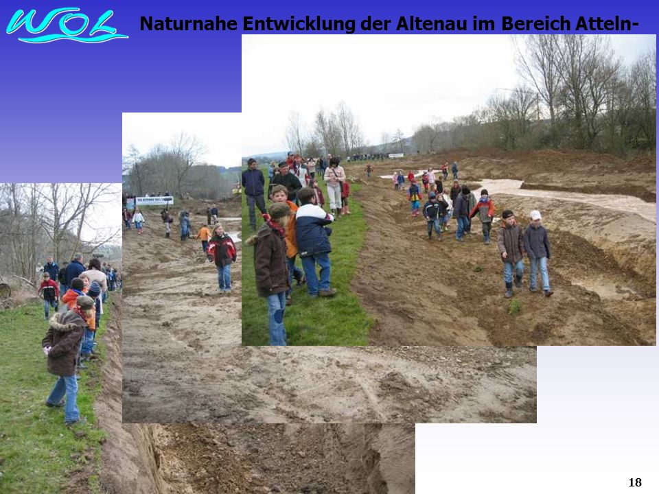 Naturnahe Entwicklung der Altenau im Bereich Atteln-Grüner Graben 2008: