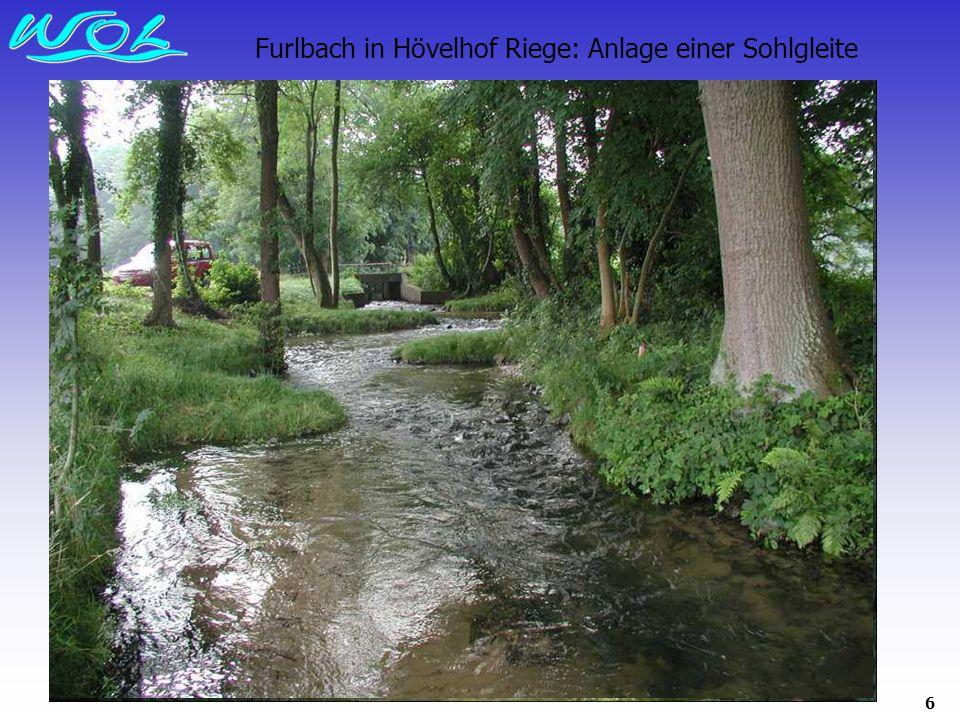 Furlbach in Hövelhof Riege: Anlage einer Sohlgleite