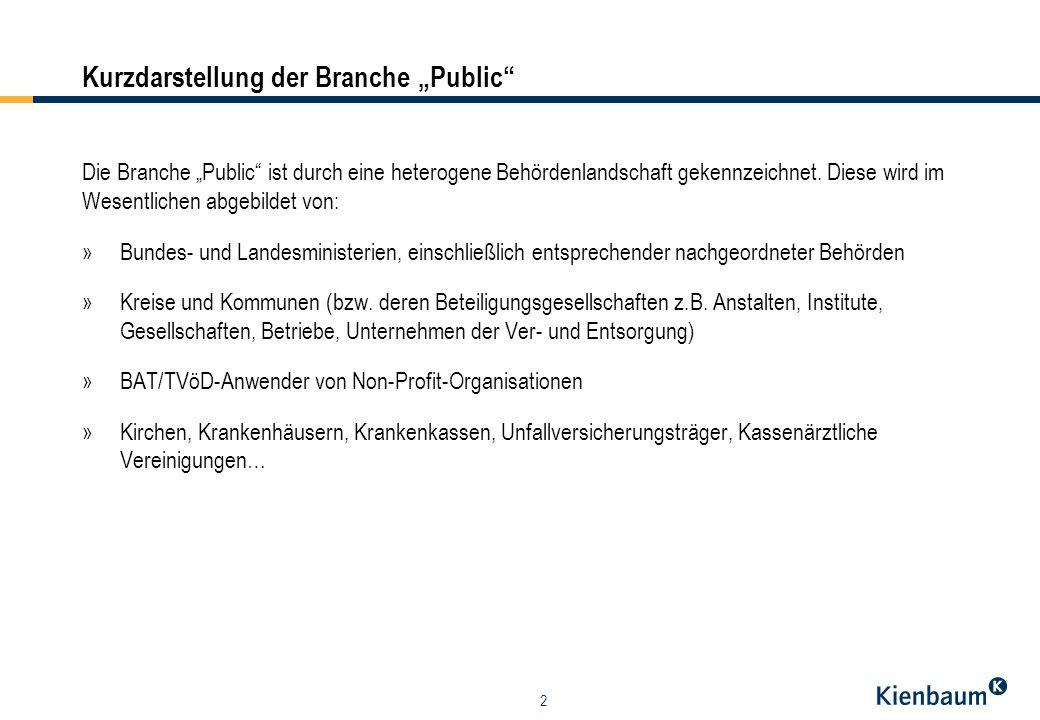 """Kurzdarstellung der Branche """"Public"""