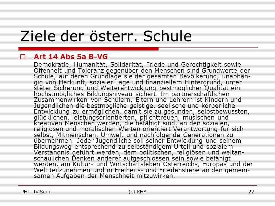 Ziele der österr. Schule