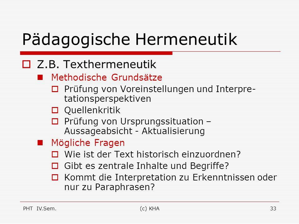Pädagogische Hermeneutik
