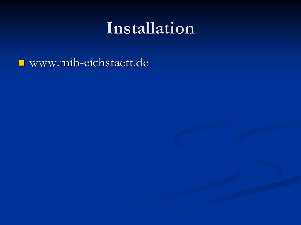 Installation www.mib-eichstaett.de