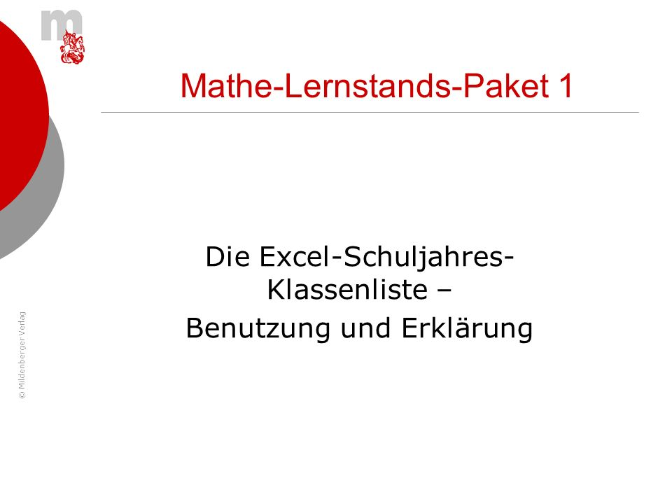 Mathe-Lernstands-Paket 1