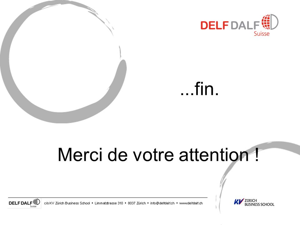 ...fin. Merci de votre attention !