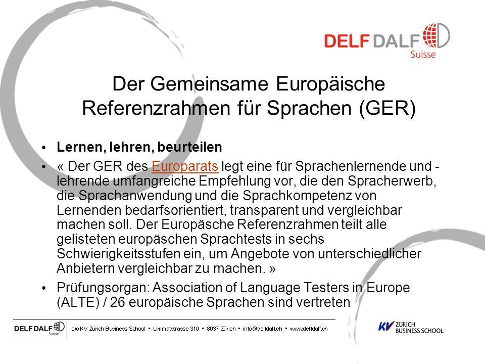 Der Gemeinsame Europäische Referenzrahmen für Sprachen (GER)