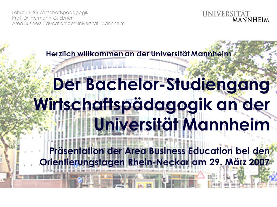 Der Bachelor-Studiengang Wirtschaftspädagogik an der Universität Mannheim
