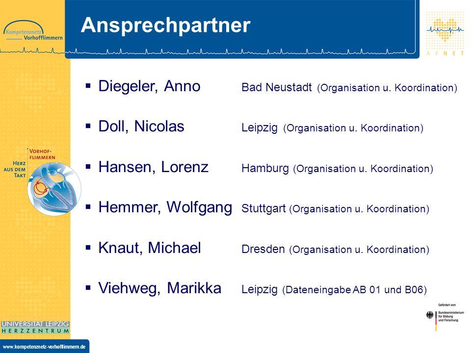 Ansprechpartner Diegeler, Anno Bad Neustadt (Organisation u. Koordination) Doll, Nicolas Leipzig (Organisation u. Koordination)