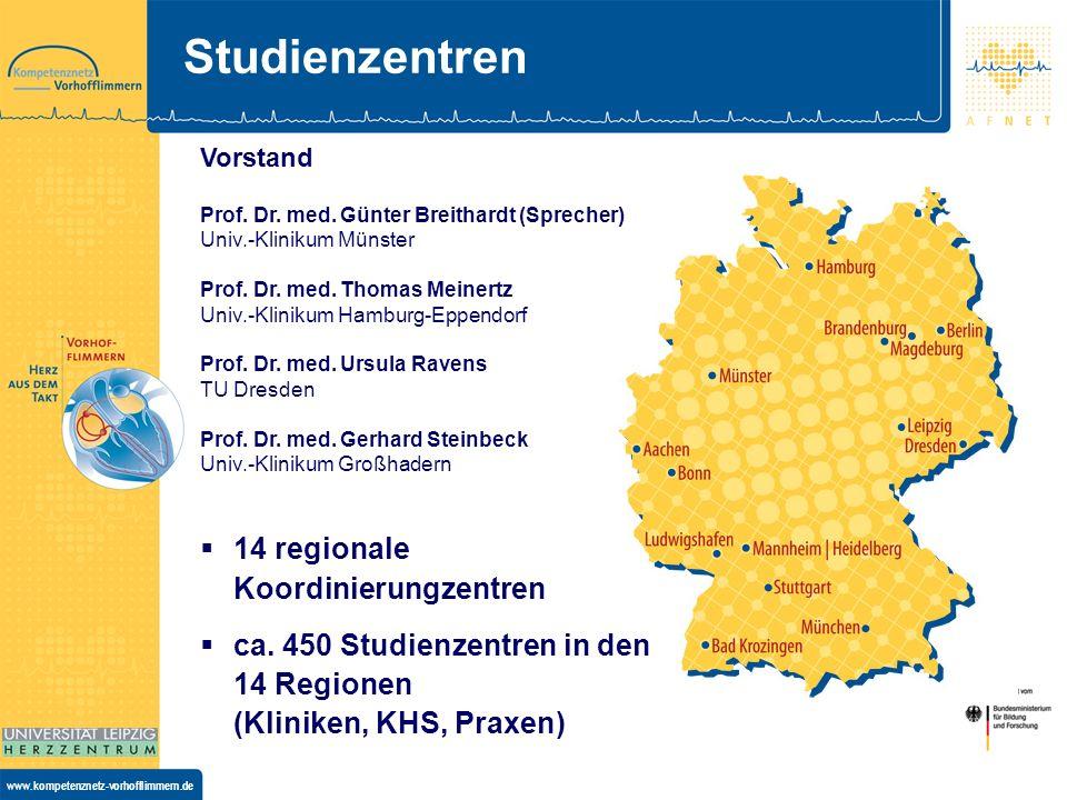 Studienzentren 14 regionale Koordinierungzentren