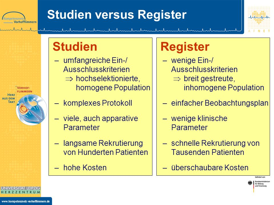 Studien versus Register