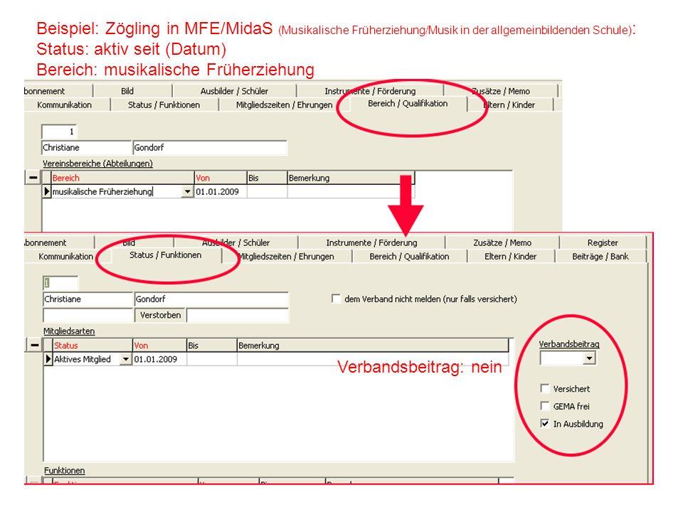 Beispiel: Zögling in MFE/MidaS (Musikalische Früherziehung/Musik in der allgemeinbildenden Schule):