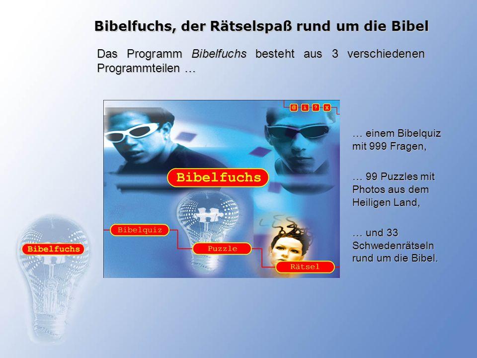 Bibelfuchs, der Rätselspaß rund um die Bibel