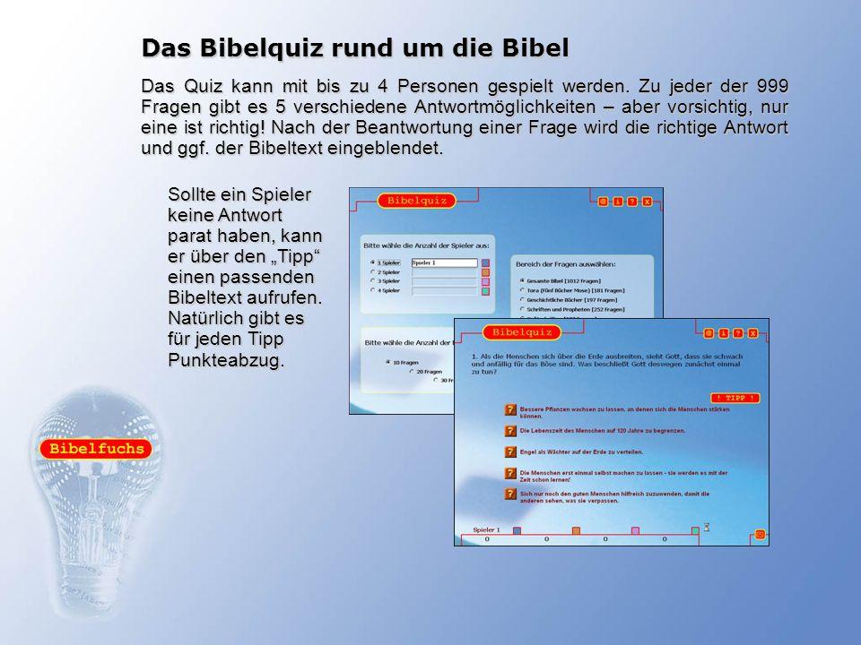 Das Bibelquiz rund um die Bibel