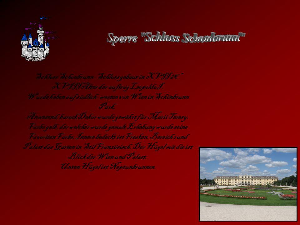 Sperre Schloss Schonbrunn