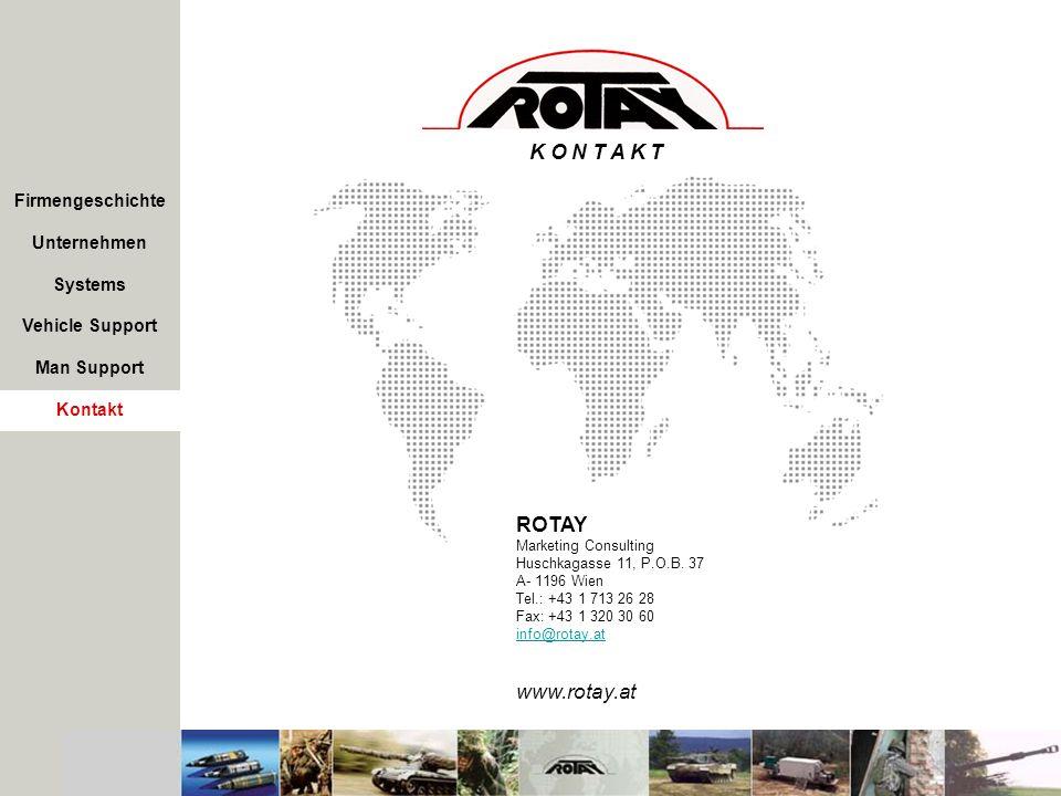 K O N T A K T ROTAY www.rotay.at Firmengeschichte Unternehmen Systems