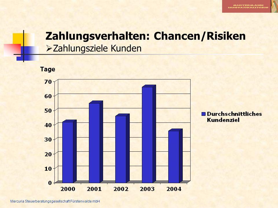 Zahlungsverhalten: Chancen/Risiken