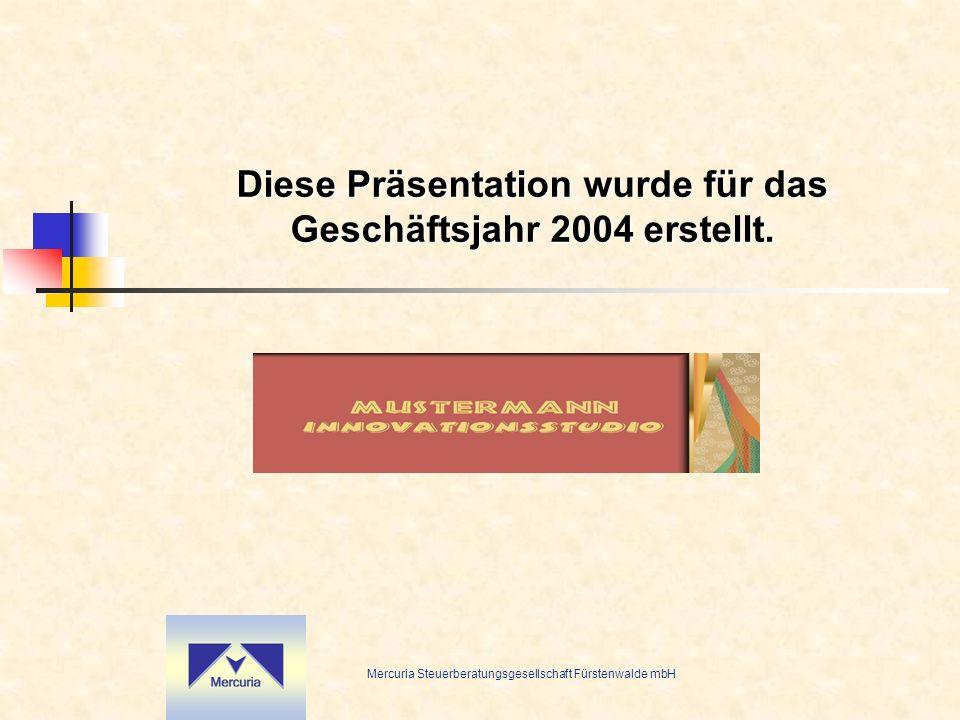 Diese Präsentation wurde für das Geschäftsjahr 2004 erstellt.