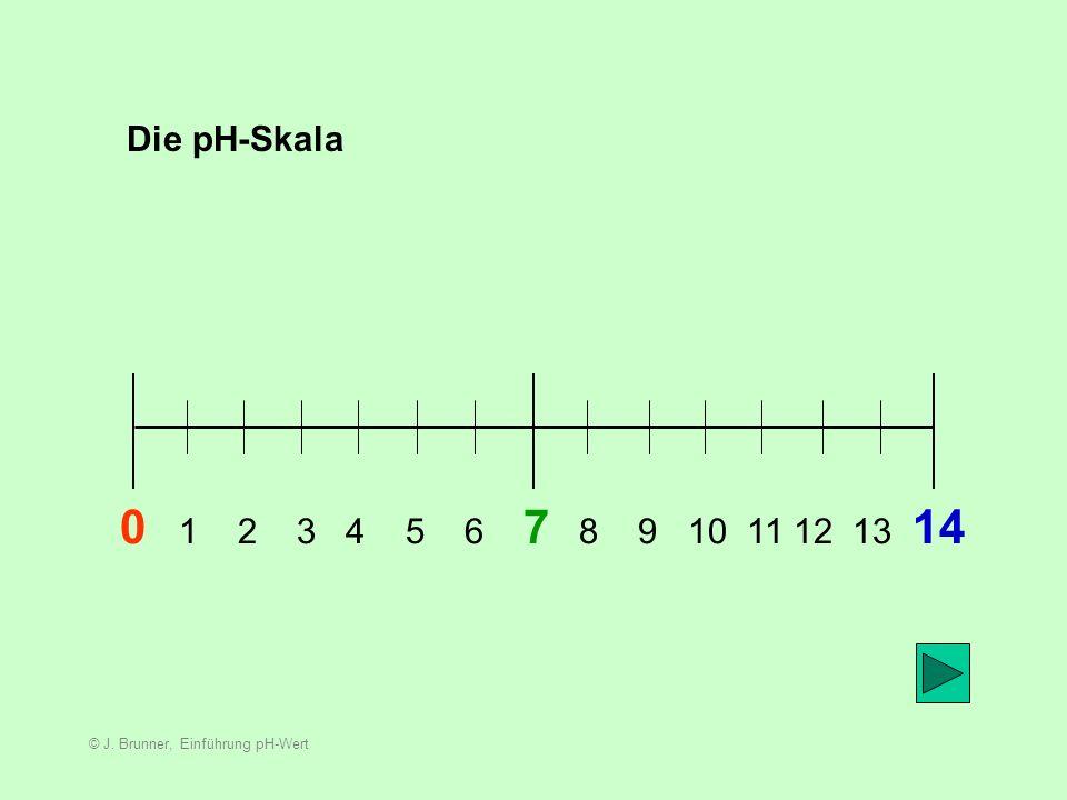 Die pH-Skala 0 1 2 3 4 5 6 7 8 9 10 11 12 13 14.