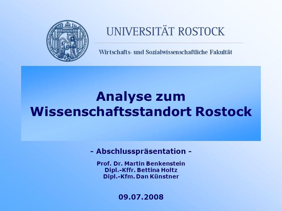 Analyse zum Wissenschaftsstandort Rostock