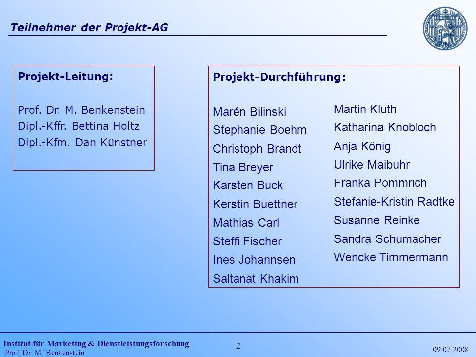 Teilnehmer der Projekt-AG