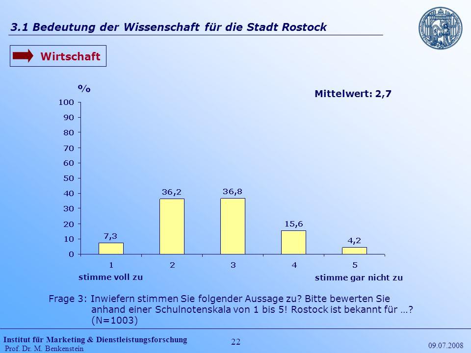 3.1 Bedeutung der Wissenschaft für die Stadt Rostock