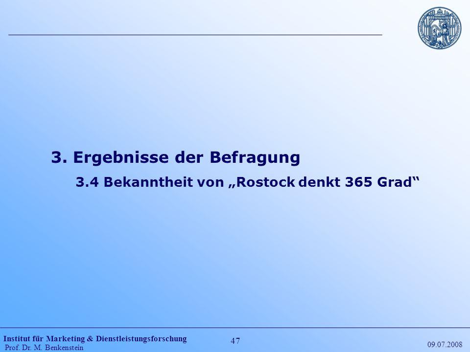 """3.4 Bekanntheit von """"Rostock denkt 365 Grad"""