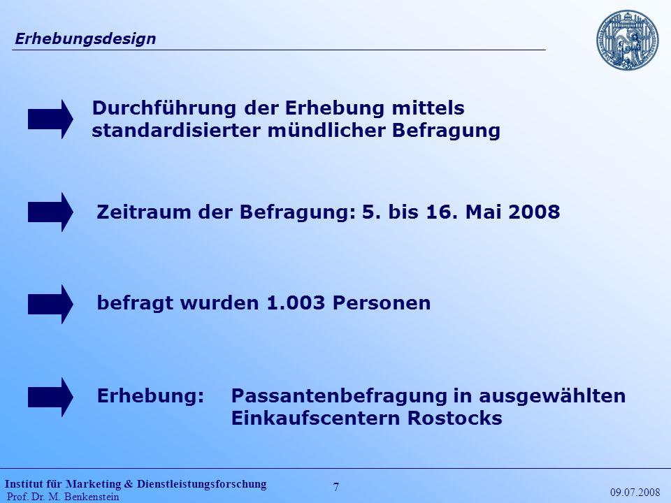 Zeitraum der Befragung: 5. bis 16. Mai 2008