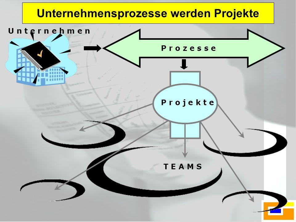 Unternehmensprozesse werden Projekte