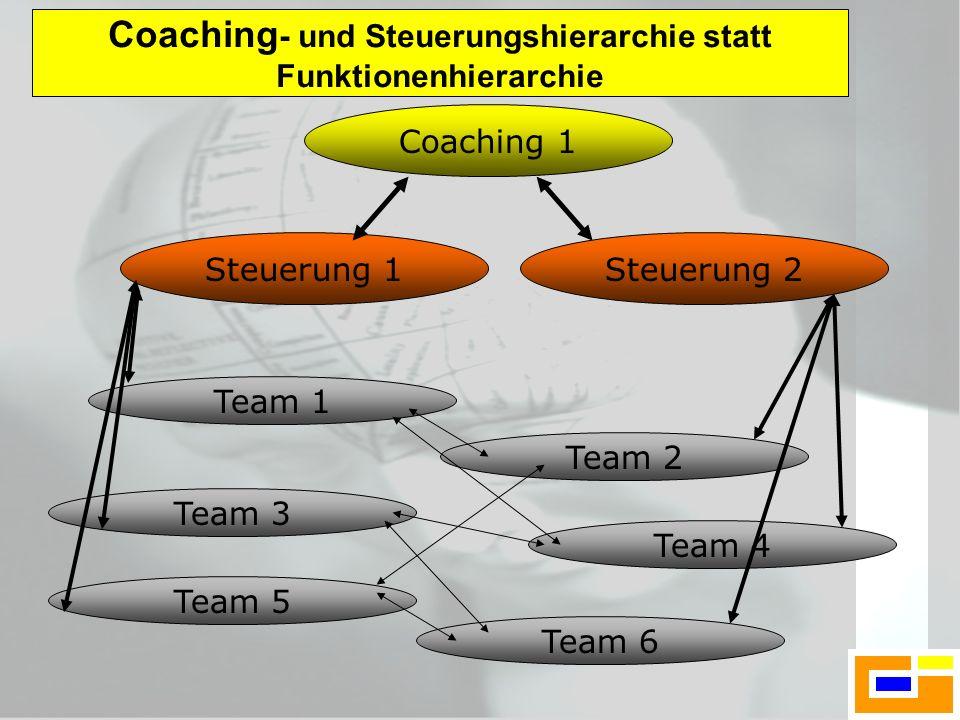 Coaching- und Steuerungshierarchie statt Funktionenhierarchie