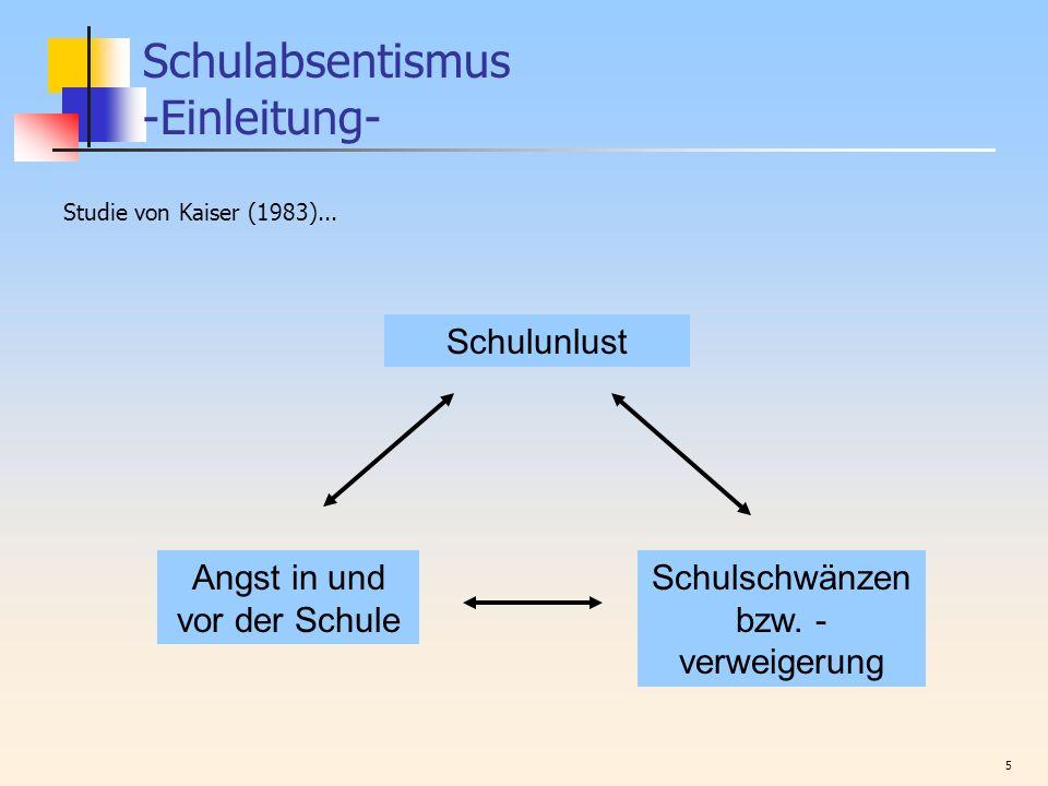Schulabsentismus -Einleitung-