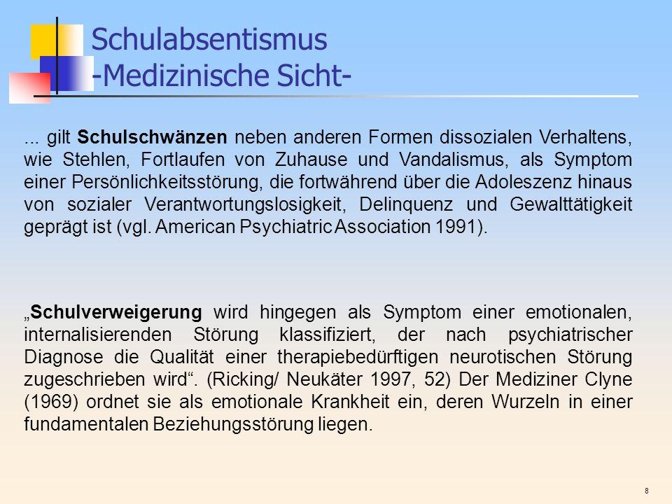 Schulabsentismus -Medizinische Sicht-