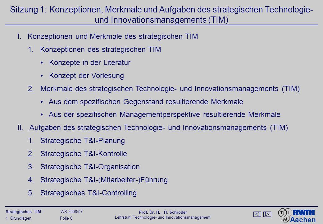 Konzepte des strategischen Technologie-Managements in der Literatur