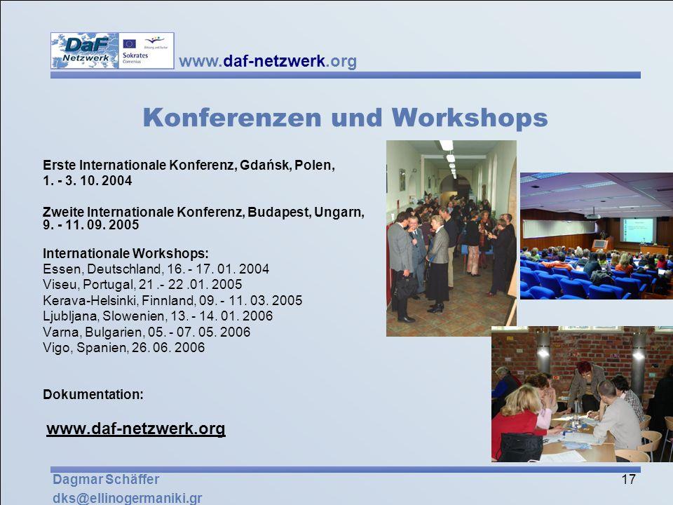 Konferenzen und Workshops