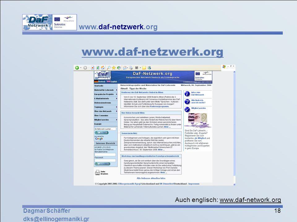 www.daf-netzwerk.org Auch englisch: www.daf-network.org