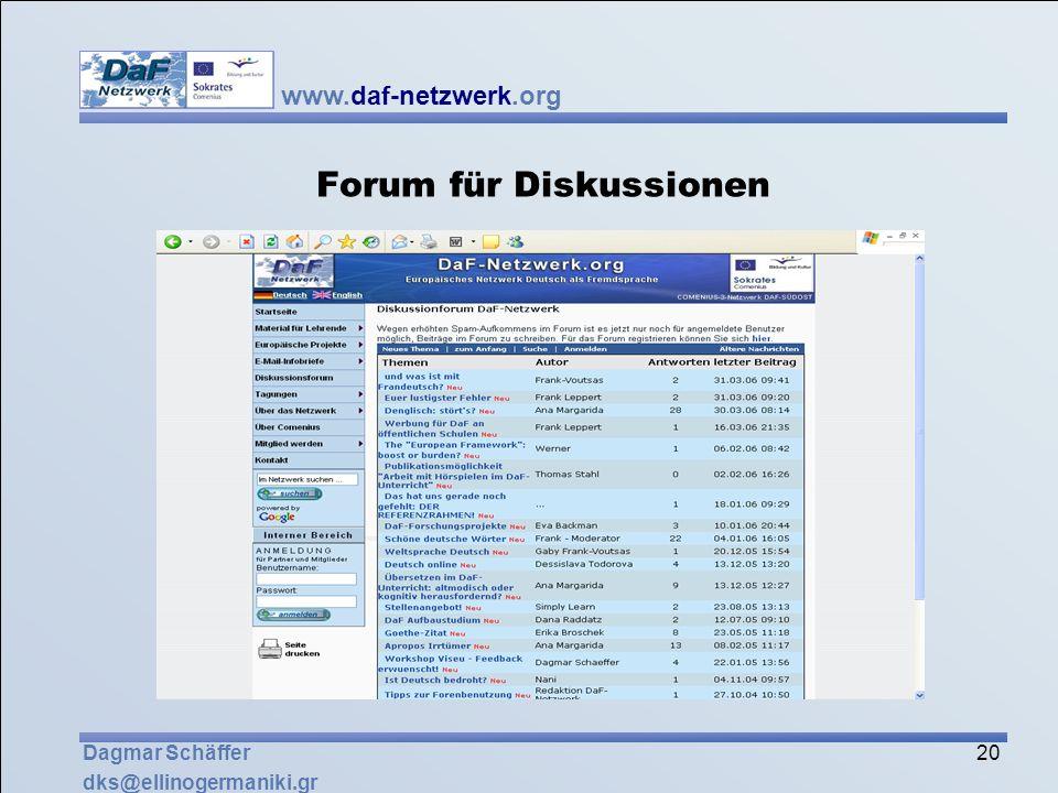 Forum für Diskussionen