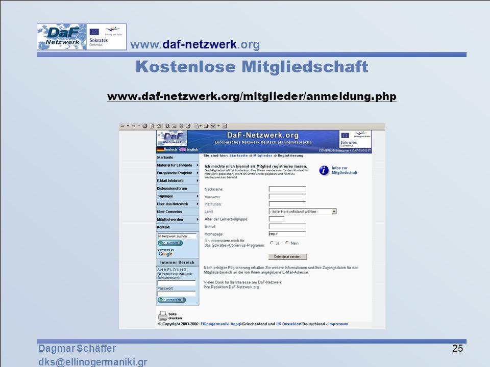Kostenlose Mitgliedschaft www. daf-netzwerk. org/mitglieder/anmeldung