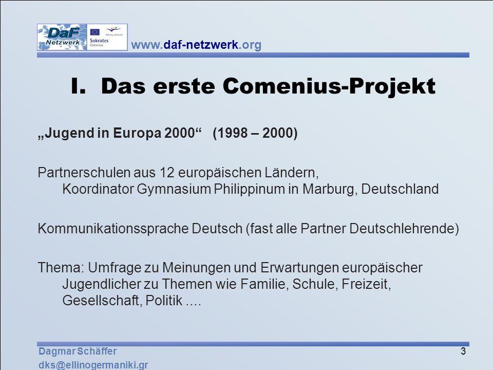 I. Das erste Comenius-Projekt