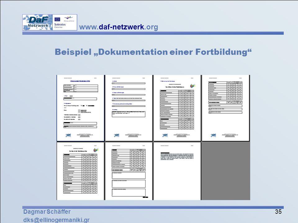 """Beispiel """"Dokumentation einer Fortbildung"""