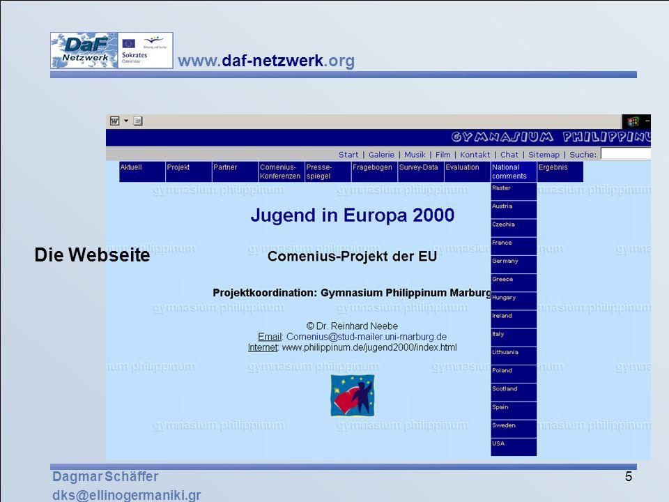 Die Webseite Dagmar Schäffer dks@ellinogermaniki.gr