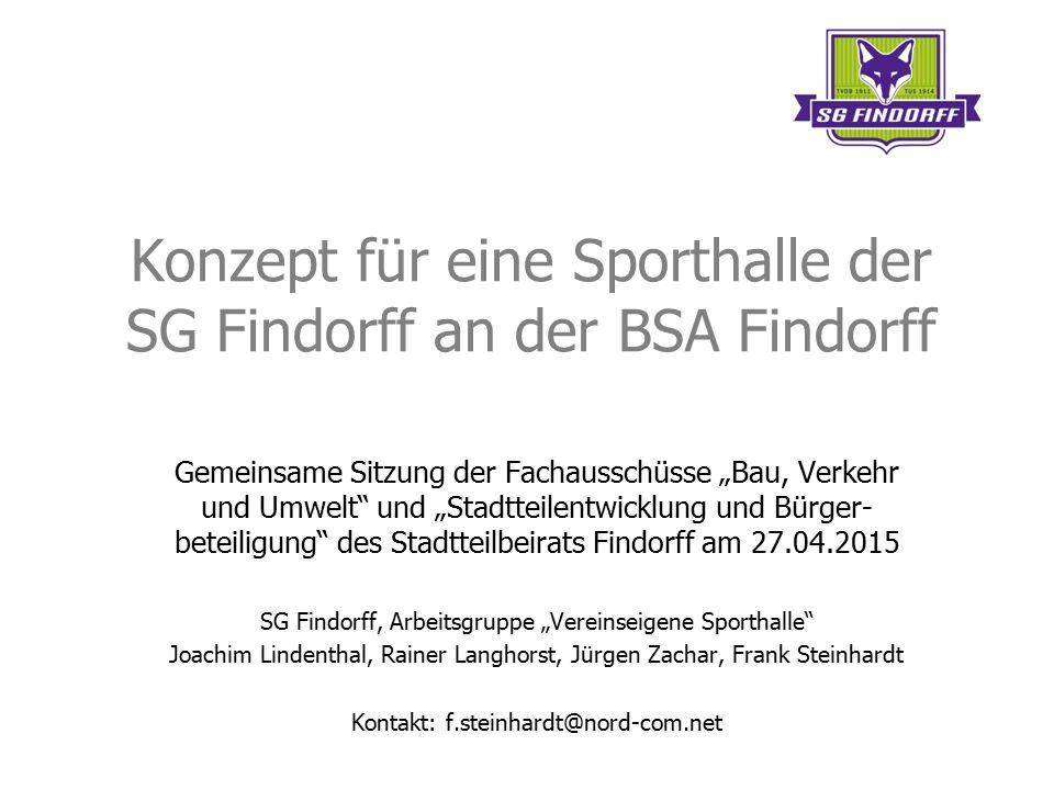 Konzept für eine Sporthalle der SG Findorff an der BSA Findorff