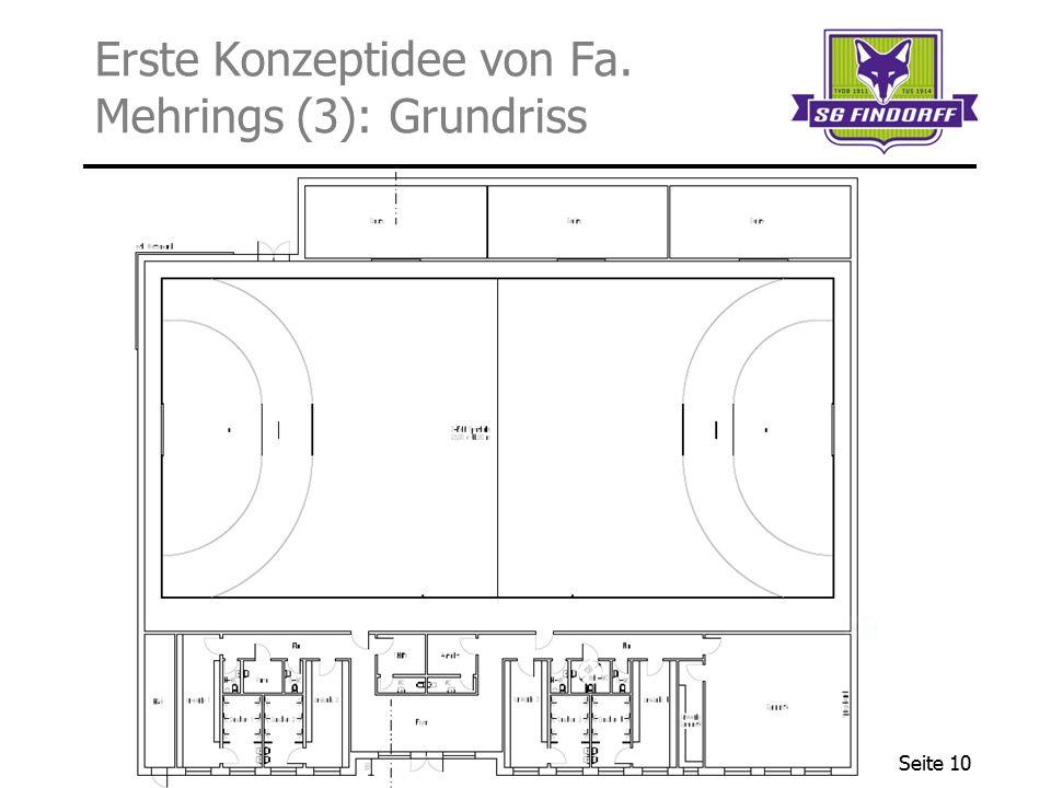 Erste Konzeptidee von Fa. Mehrings (3): Grundriss