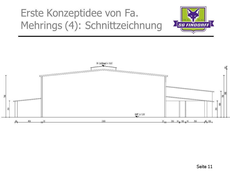 Erste Konzeptidee von Fa. Mehrings (4): Schnittzeichnung