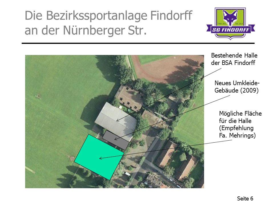 Die Bezirkssportanlage Findorff an der Nürnberger Str.